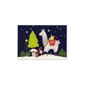 Box of 20 Christmas Cards - Fa La Llamas