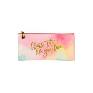 Peter Pauper Pencil Case - Watercolour Sunset 'Create The Life You Love'