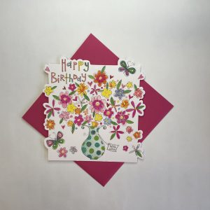 Rachel Ellen Happy Birthday With Love Flowers Card