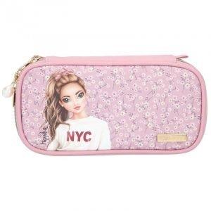 Top Model Pencil Case - Pink City Flower