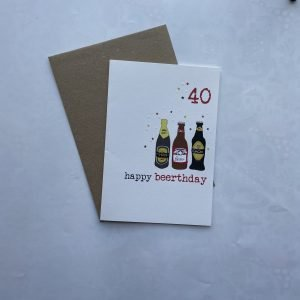 40 Happy Beerthday Card