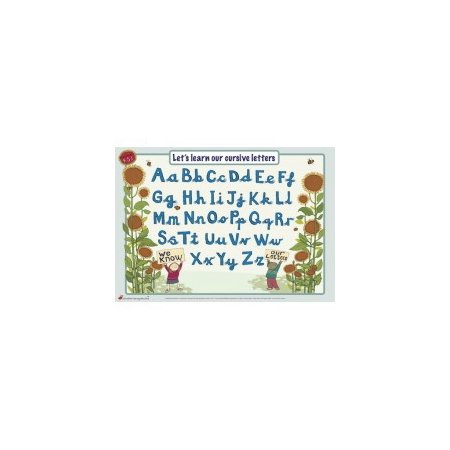 Educational Learning Mat A5 Cursive Letters