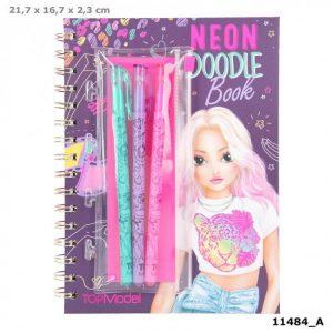 Top Model Neon Doodle Book With 3 Neon Pens