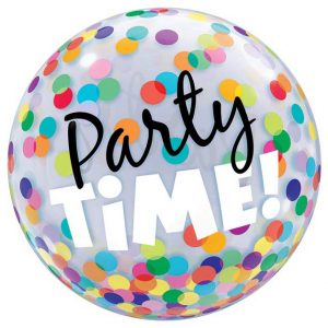 22 inch Party Time Rainbow Bubble Balloon