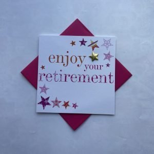 Enjoy Your Retirement Pink Card