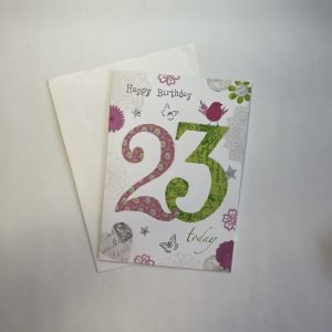 Happy Birthday 23 Today Age Card