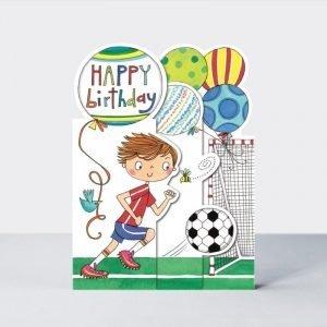 Rachel Ellen Happy Birthday Football Tri-Fold Card