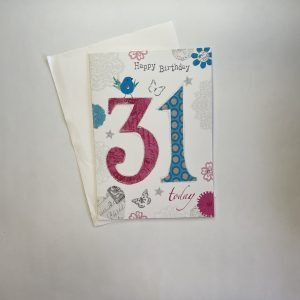 Happy Birthday 31 Today Age Card