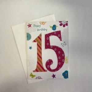 Happy Birthday 15 Age Card