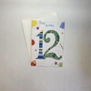 Happy Birthday 12 Today Age Card