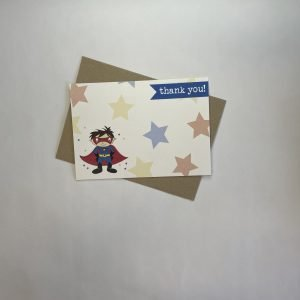 Pack of 6 Thank You Cards - Superhero