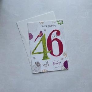 Happy Birthday 46 Today Age Card