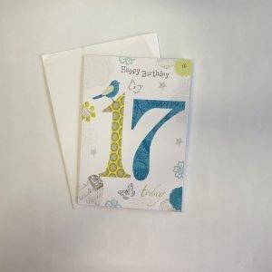 Happy Birthday 17 Today Age Card