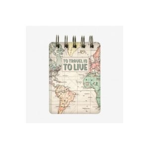 Legami Wirebound Pocket Notebook - Map