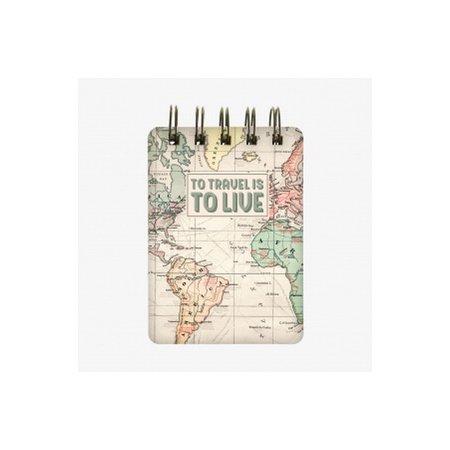 Legami Wirebound Pocket Notebook - Map