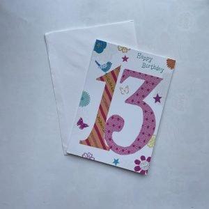 Happy Birthday 13 Age Card
