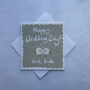 Happy Wedding Day Lovebirds Card