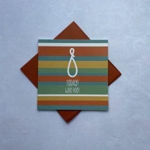 8 Today Woo Hoo Stripes Card