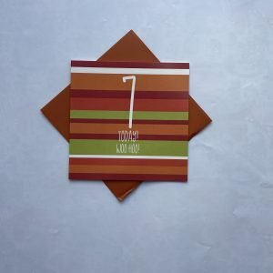 7 Today Woo Hoo Stripes Card