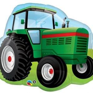 34 inch Green Tractor Supershape Balloon