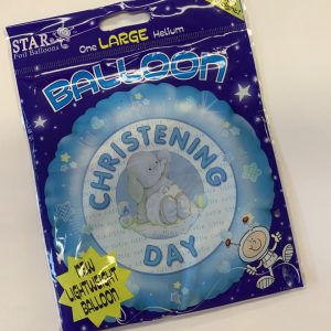 18 inch It's Your Christening Blue Elephant Balloon