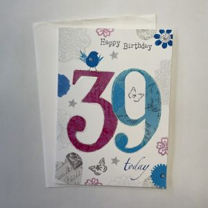 Happy Birthday 39 Today Age Card
