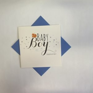 Baby Boy Congratulations Card