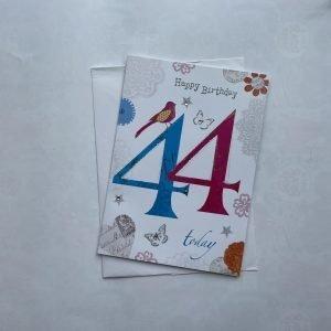 Happy Birthday 44 Today Age Card