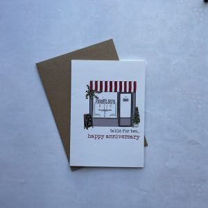 Happy Anniversary Romantic Bistro Table For Two Card