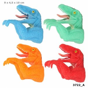Dino World Dino Head Finger Puppet - Red