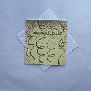 Congratulations Glittery Gold Swirls Card
