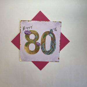 Rachel Ellen Happy 80th Darjeeling Card