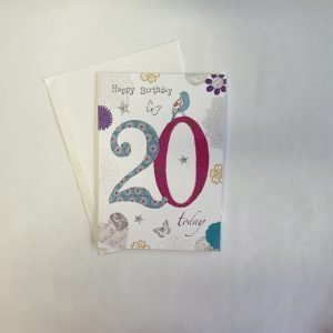 Happy Birthday 20 Today Age Card