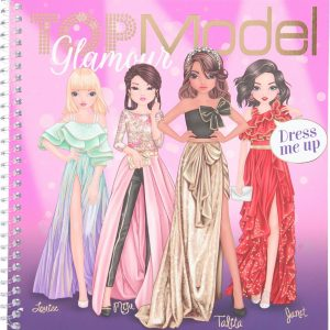 Top Model Dress Me Up Sticker Book - Glamour