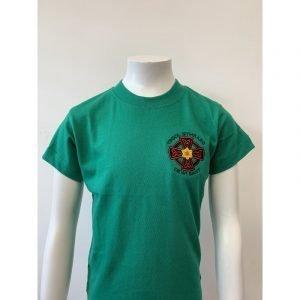 Ysgol Gymraeg Dewi Sant PE T-Shirt - Green - 11-13