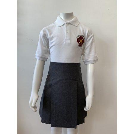 Ysgol Gymraeg Dewi Sant Polo Shirt - White - 5-6