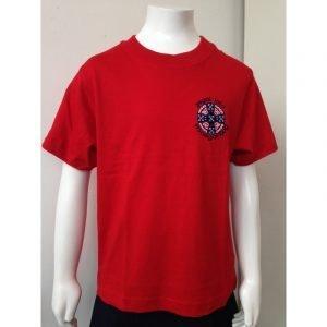 Ysgol Iolo Morgannwg PE T-Shirt - Red