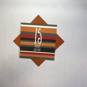 15 Today Woo Hoo Stripes Card