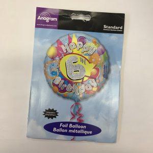 18 inch Age 6 Holographic Splash Balloon