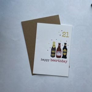 21st birthday card with envelope