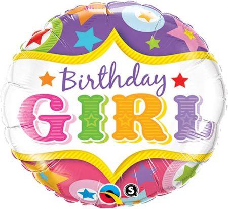 Birthday Girl helium balloon