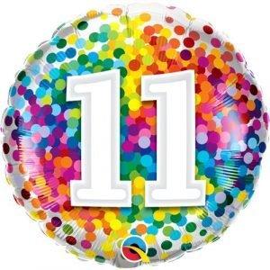 Age 11 helium balloon